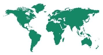 white and green world map
