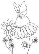 Flower butterfly Clip Art drawing