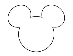 free Mickey Mouse Ears drawing