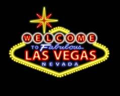 welcome Las Vegas neon sign drawing