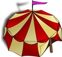 circus tent on a white background