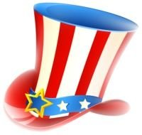colored Uncle Sam Hat Clipart