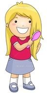 Brush My Hair Cartoon drawing