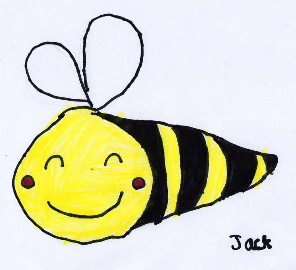cute Bumble Bee drawing