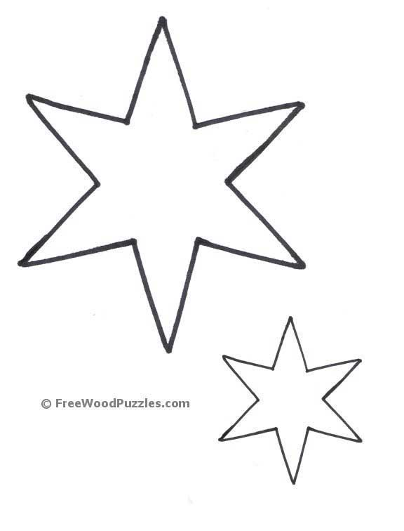 It is a photo of Printable Stars Shapes throughout simple