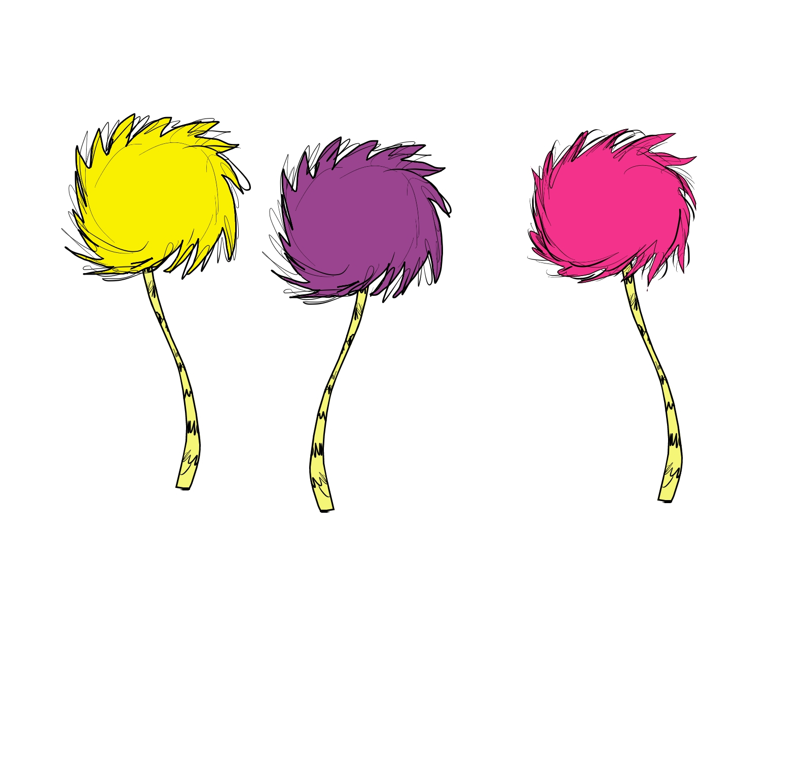 Colors That Go With Yellow Dr Seuss Lorax Trees Clip Art N2 Free Image