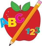 Colorful ABC 123 clipart