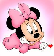 Baby Minnie Mouse drawing