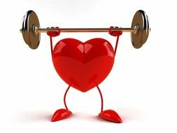 exercising animated heart