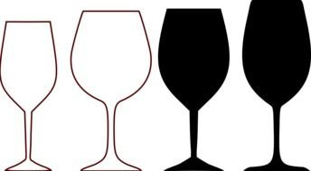 Wine glass Clipart drawing