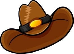 Brown Cowboy Hat as a graphic illustration
