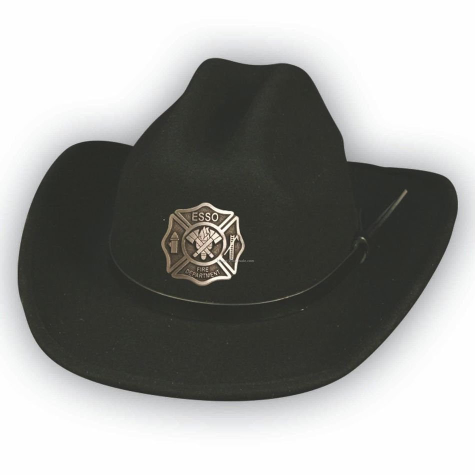 black cowboy hat on a white background