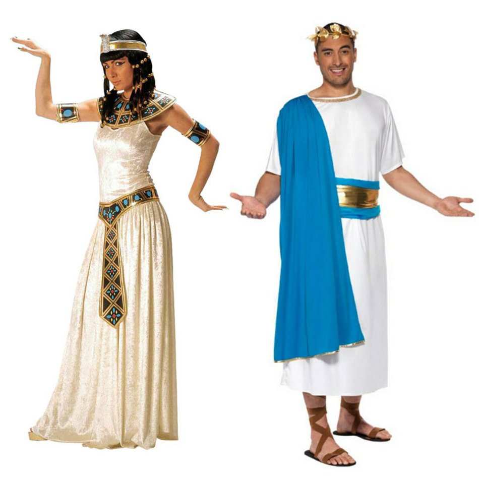 woman and man in ancient egyptian clothing