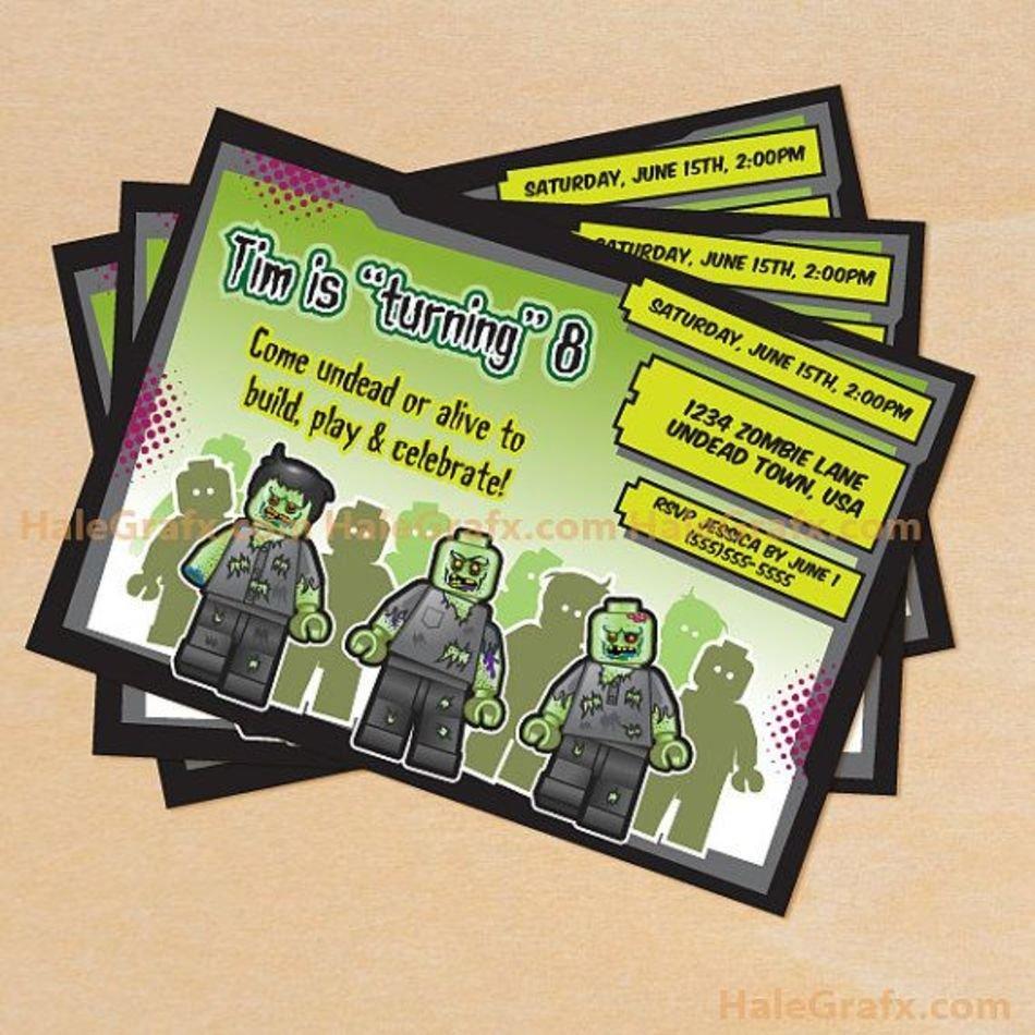 FREE PRINTABLE ZOMBIE BIRTHDAY INVITATIONS