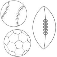 Football Coloring Page drawing