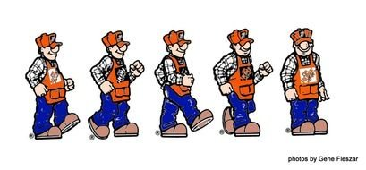 Clip art of construction workers