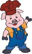 Clipart of BBQ Pig