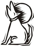 Dog Howling Clip Art drawing