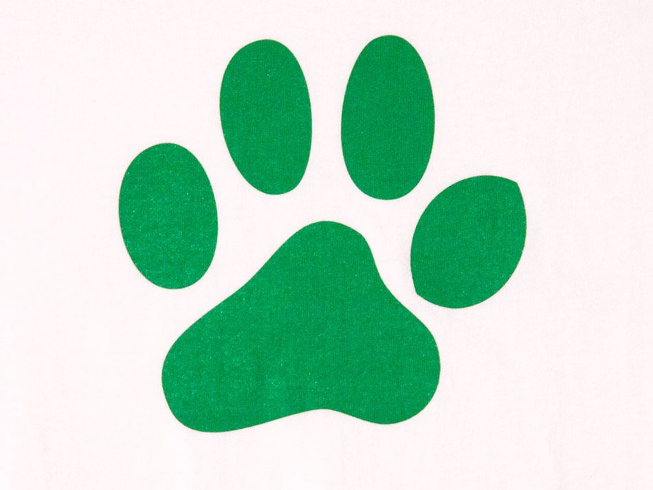 Clip art of green Paw Print
