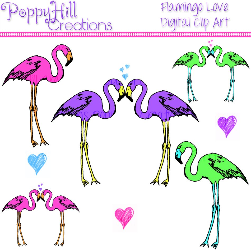 love flamingos Clipart