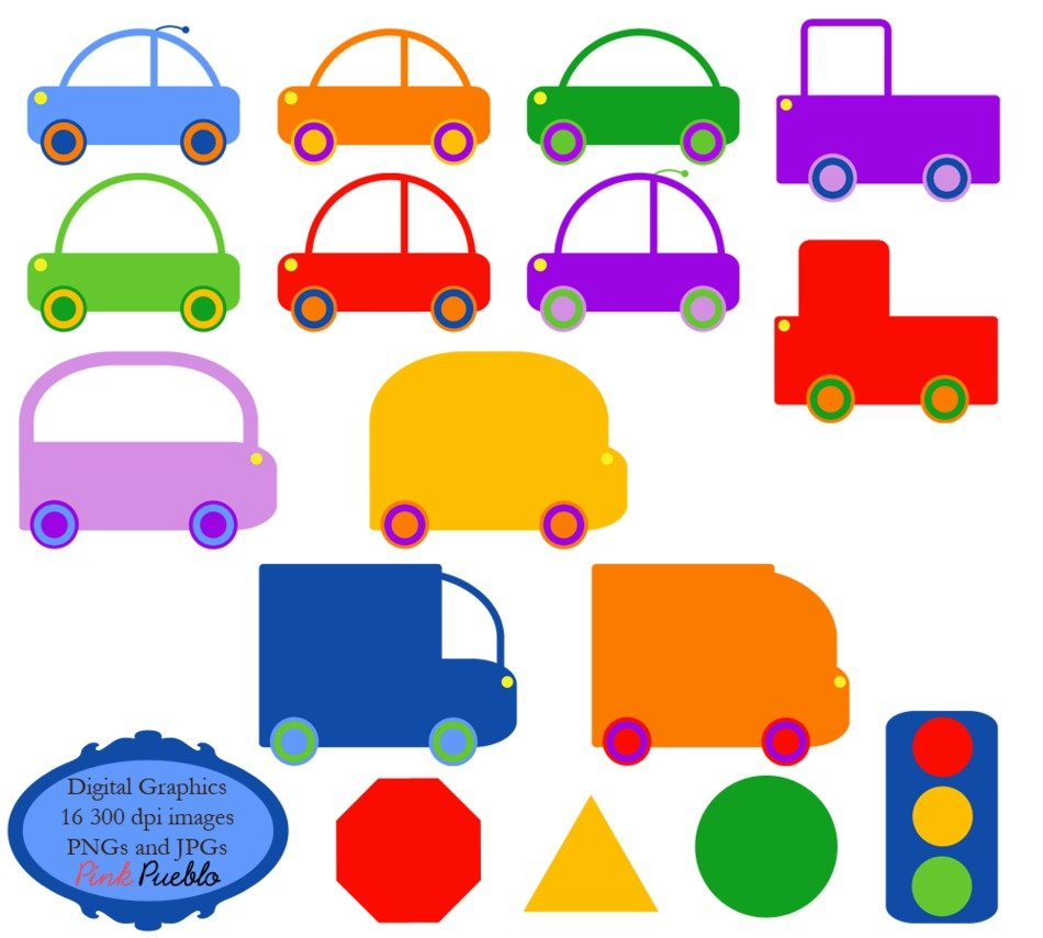 colors cars drawing