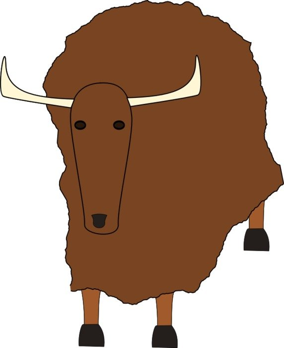 brown cartoon sheep