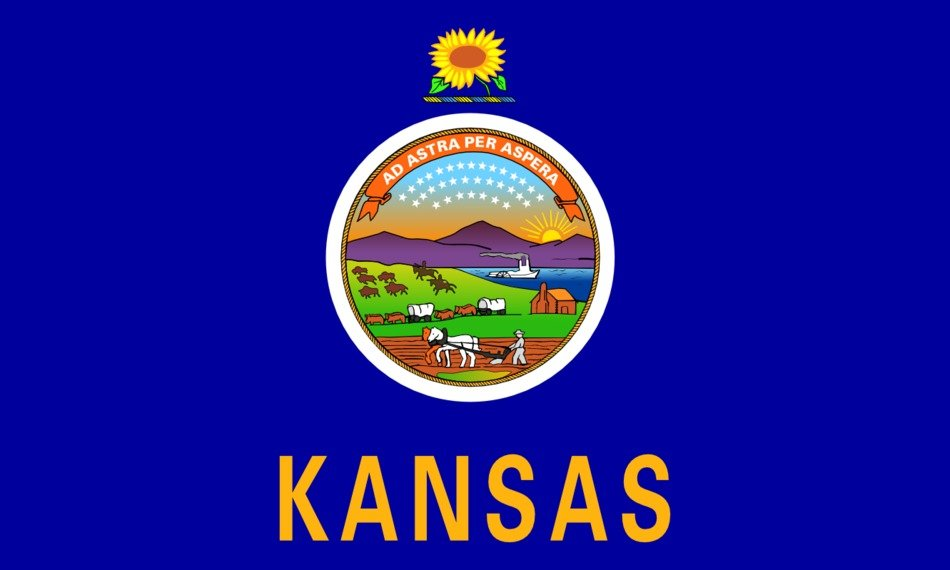 KS State Flag as a graphic illustration