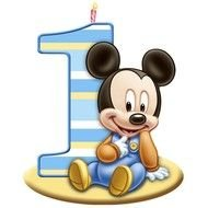 Baby Mickey Mouse 1st Birthday drawing