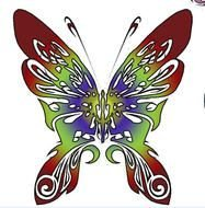 color Butterfly Clip Art drawing