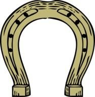 Horseshoe as a picture for clipart