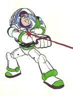 Colorful drawing of Buzz Lightyear clipart