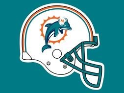 Miami Dolphins Helmet logo drawing