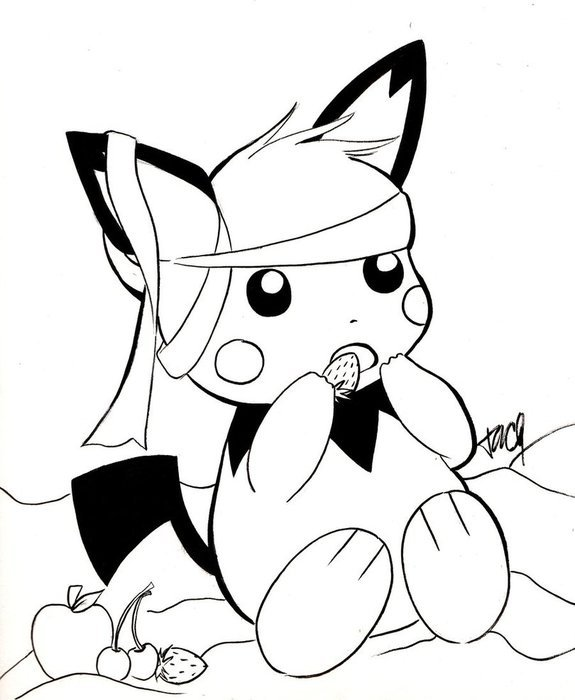 Pichu Coloring Pages drawing