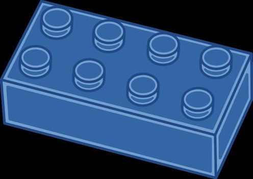 blue block for lego as a graphic illustration