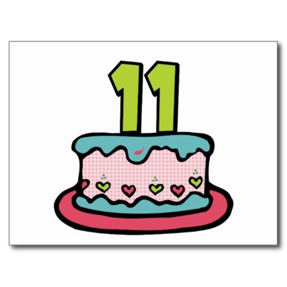 Sensational 11 Year Old Birthday Cake Clip Art Free Image Funny Birthday Cards Online Amentibdeldamsfinfo