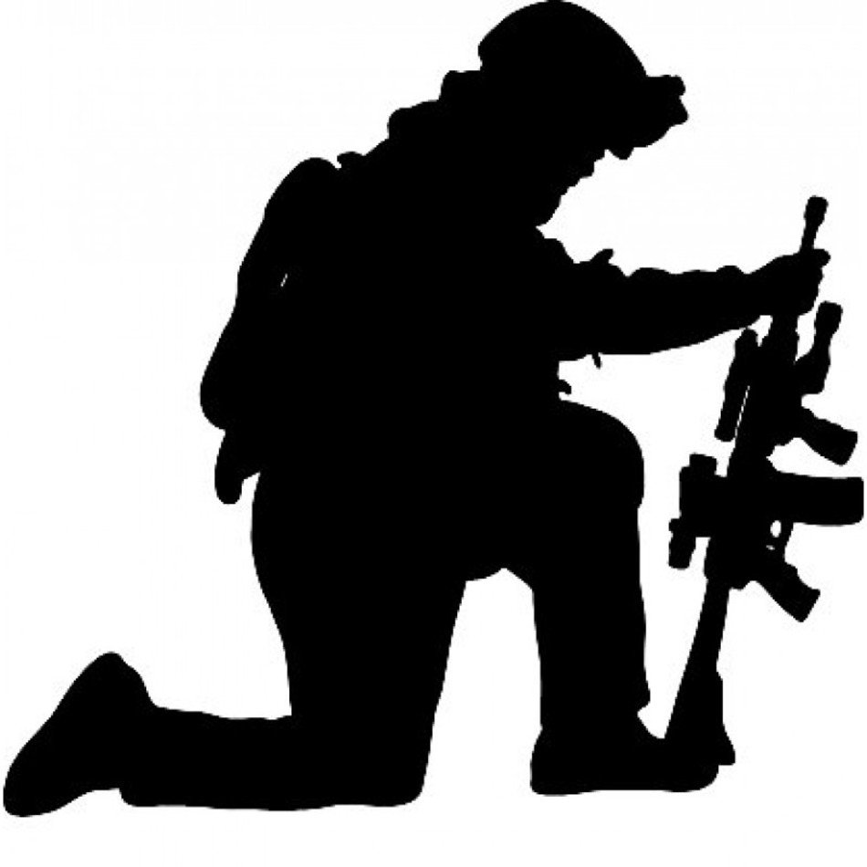 Soldier Silhouette person drawing