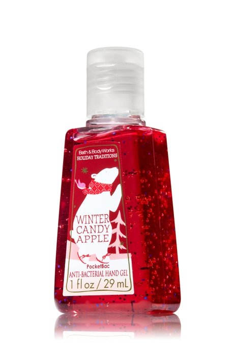 hand sanitizer with winter candy apple fragrance