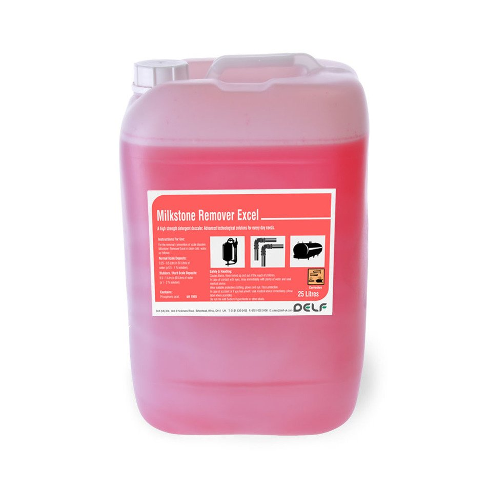 plastic canister with pink liquid