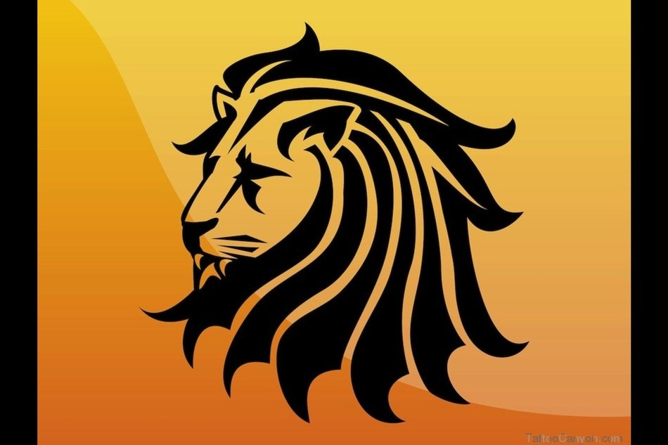 Clip Art of Lion Tattoo Design
