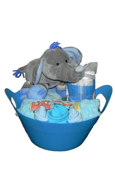 Blue Elephant Baby Shower Cake drawing