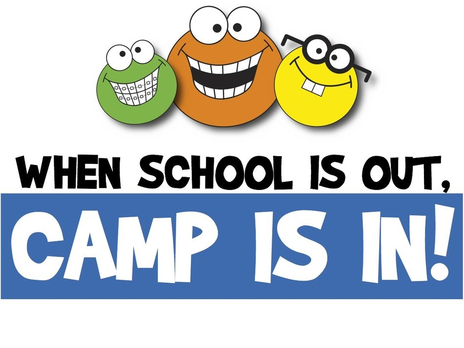 logo of the summer camp with funny monsters