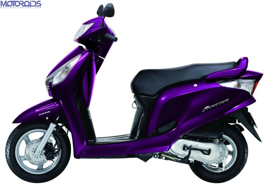 purple scooter on a white background