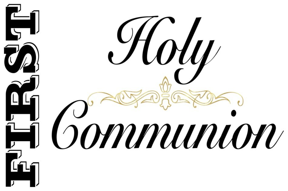 First Holy Communion banner drawing