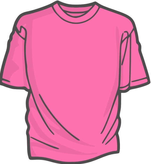 isolated pink t-shirt