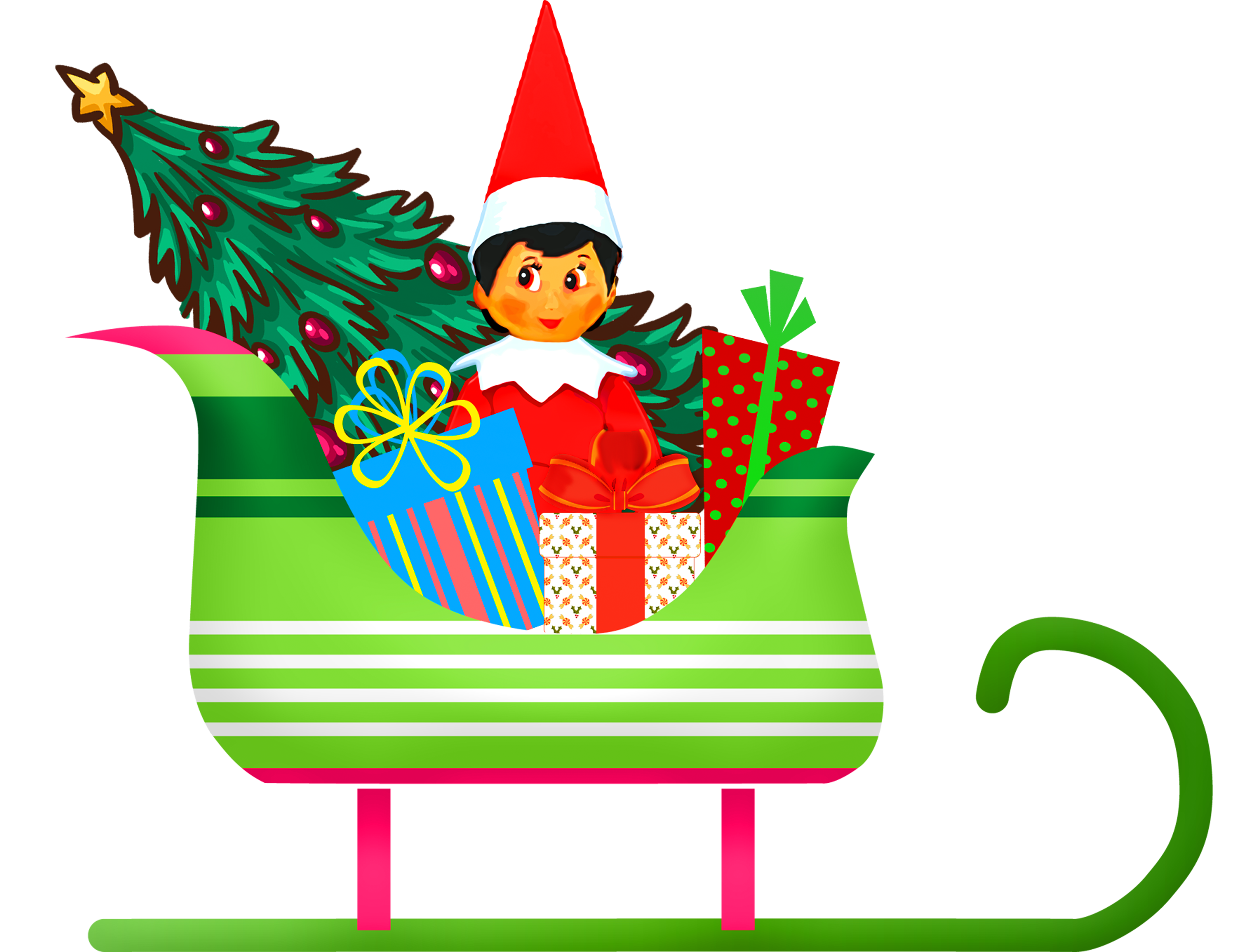 Cartoon Gifts And Christmas Tree In Sleigh Free Image The best selection of royalty free tree cartoon vector art, graphics and stock illustrations. https pixy org licence php