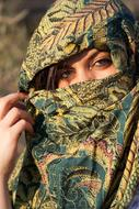 charming Woman Scarf face