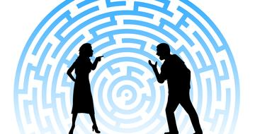 Clip art of conflict between man and woman