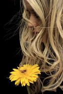 Model hair Yellow Flower