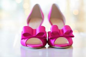 pair of Pink Shoes with Bows