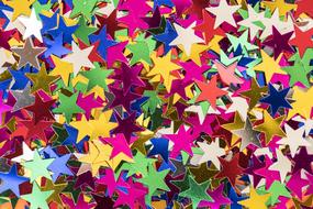 colorful Pattern, pile of star shape Decoration